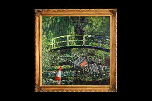 Banksy's 'Show Me the Monet' Painting Could Fetch Over $6 Million USD