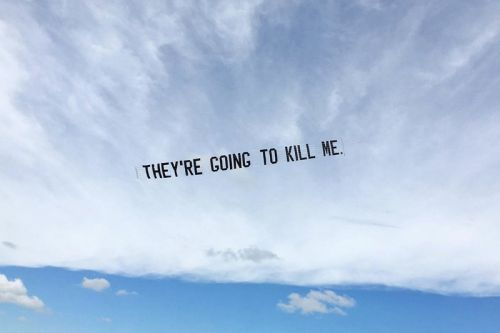 Artist Jammie Holmes Stages Aerial Demonstrations of George Floyd's Final Words