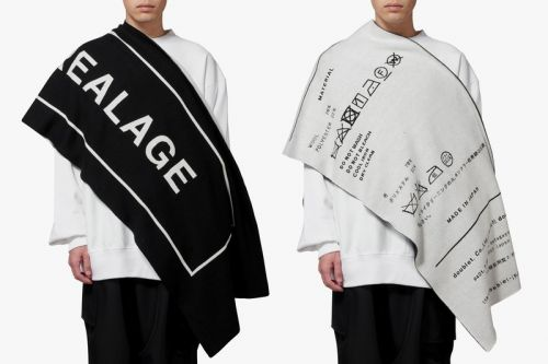 """ANREALAGE & Doublet to Release Reversible """"BIG TAG"""" Scarf"""