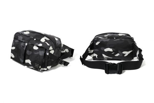 BAPE & PORTER Link for Glow-In-The-Dark Camouflage Bag