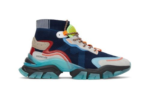 """Moncler Drops """"Leave No Trace"""" High-Tops With Splashy Hiking Influences"""