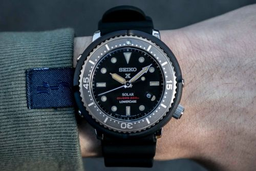 """Seiko & LOWERCASE Release the """"Solar Tuna"""" With a Faded Ghost Bezel"""