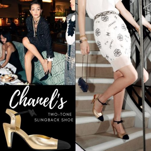 CHANEL's Two-Tone Slingback Shoe
