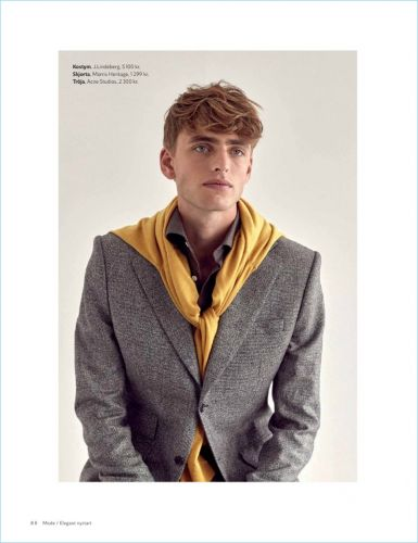 Erik Fallberg Models Elegant Styles for King Magazine