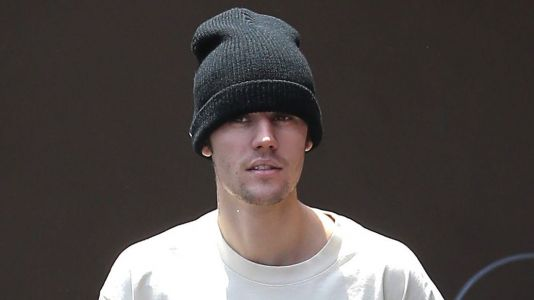 Bieber Getting Busy! Justin Heads Inside Studio to Promote His New Deodorant