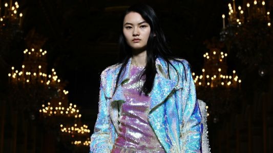 Designers Want You Coated in Shimmery, Holographic Iridescence for Fall