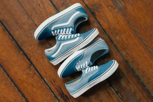 Vans' Classic Old Skool & Authentic Models Receive Two-Toned Denim Makeovers