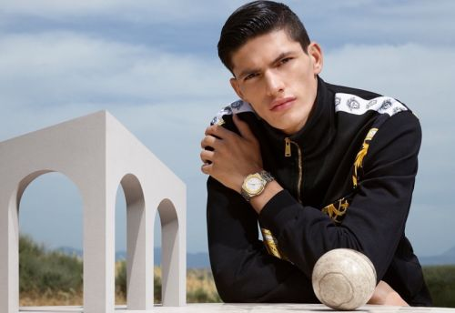 Islam Dulatov Fronts Versace Watches Campaign