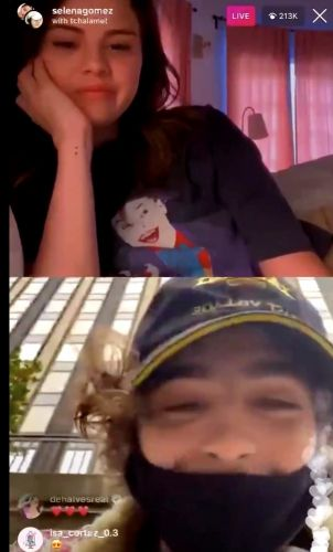 Watch Timothée Chalamet video call Selena Gomez at the voting station