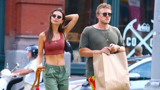 Emily Ratajkowski Looks Casually Chic While Out With Husband Sebastian Bear-McClard in NYC