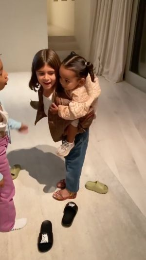 Chicago West Recovers Like a Champ After Cousin Penelope Disick Drops Her During a Piggyback Ride