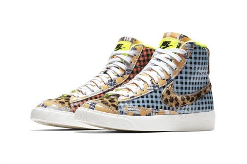 A Nike Blazer Mid '77 Pack Surfaces With Bold Patchwork Uppers