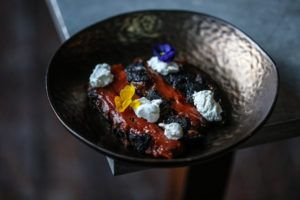 Welcome to Iron Bloom, where you can eat an all-black meal