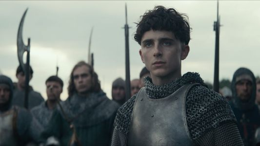 Timothée Chalamet Wears the 15th Century Version of a 'Cool Denim Jacket' and Real Armor in 'The King'
