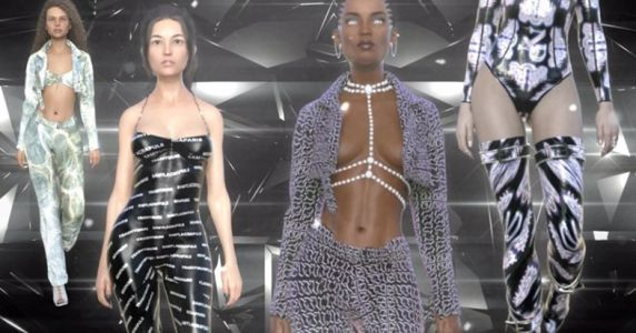 Trashy Muse put on the world's first virtual avatar fashion show