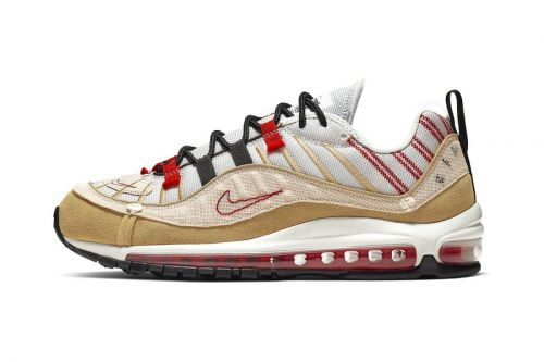 """Nike Continues Inside-Out Design With Air Max 98 SE """"Desert Sand/University Red"""""""