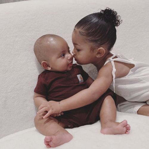 Kim Kardashian Shares the Cutest Photo of Stormi Webster and Psalm West and Our Hearts Can't Take It