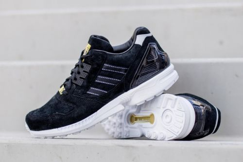 """Adidas ZX8000 """"Core Black"""" Is Swathed in Supple Suede"""