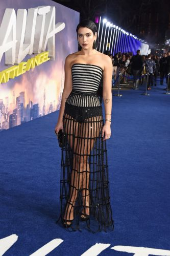 Dua Lipa's Glitter Cage Dress Is Giving Me BDSM 'Gone with the Wind' Vibes