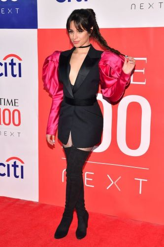 Camila Cabello's Tuxedo Dress Has Sleeves Bigger Than My Head-and I'm Into It
