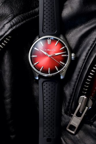 New Moser Pioneer Centre Seconds Swiss Mad Red with a red fumé dial