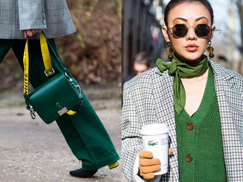 How To Wear Green Like A Street Style Star