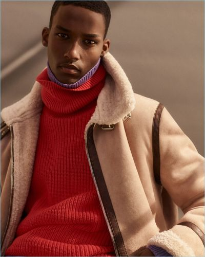 Mahad Musse Makes a 'Shearling Statement' for Zara
