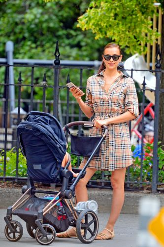 Newly Single Irina Shayk Takes Daughter Lea for a Casual Stroller Ride - See the Sweet Photos!