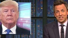 'Slurring Like A Lunatic': Seth Meyers Tears Apart Trump's 'Deranged' Rally