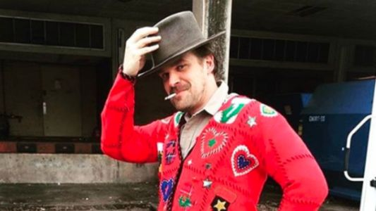 Hopper From 'Stranger Things' Wore A Holiday Sweater And Became A New Meme