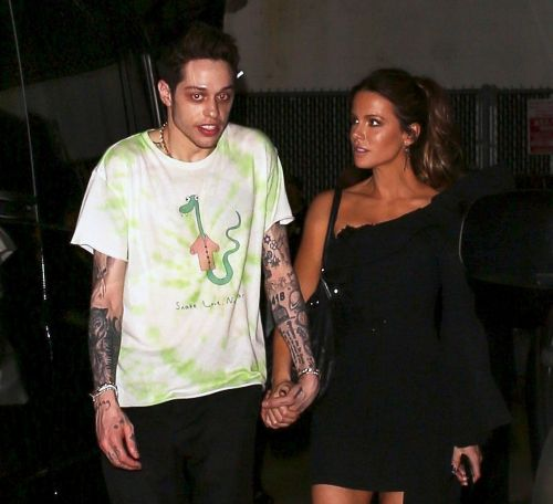 PDA Alert! Pete Davidson and Girlfriend Kate Beckinsale Share a Sweet Kiss Following Night Out