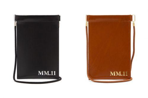 Maison Margiela Drops MM.11-Embossed Leather Phone Pouches