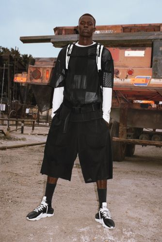 Alpha Dia Rocks Black & White for Y-3 Spring '19 Campaign