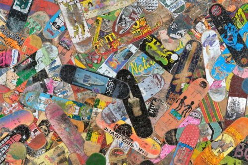 Haroshi Produces New Works Using Worn-Out Skateboards for Upcoming Show