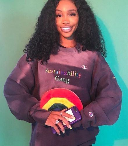 SZA wants to save the ocean using Champion sweaters