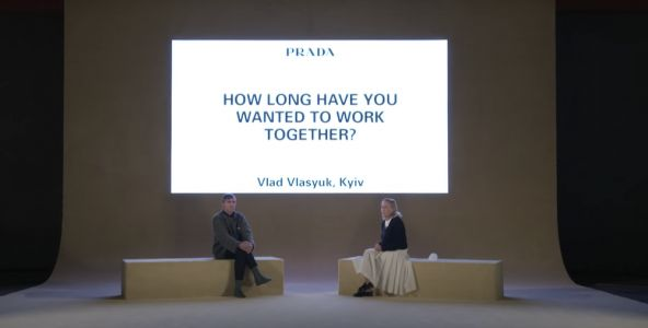 A Conversation between Miuccia Prada and Raf Simons, Taken from Prada's SS21 Showcase