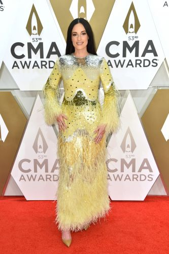 Country Royalty! Kacey Musgraves Wowed at the 2019 CMAs in a Feathered Gown - See Photos
