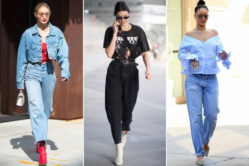 Celebs are giving skinny jeans the boot