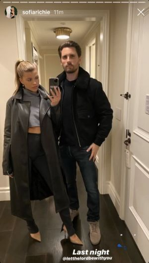 Sofia Richie Shares Rare Selfie From Valentine's Day Night Out With Boyfriend Scott Disick