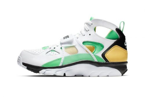 """Nike Gives the Air Trainer Huarache a """"Topaz Gold/Electro Green"""" Makeover"""
