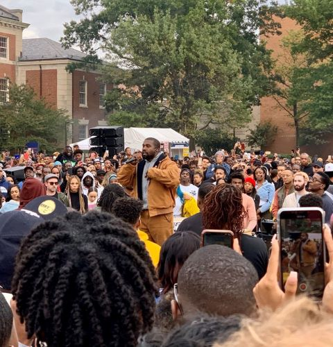 Kanye West takes his Sunday Service to Howard University, to mixed reviews