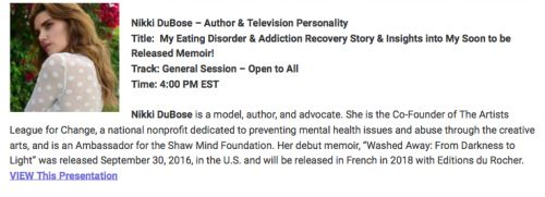 Eating Disorder Hope's Virtual Conference & My Webinar on Modeling, Inner Beauty, and Mental Health!