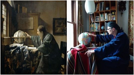 The Getty Museum is challenging people to recreate famous artworks at home