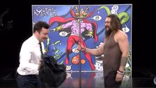 'Aquaman' Jason Momoa And Jimmy Fallon Throw Tridents In Contest
