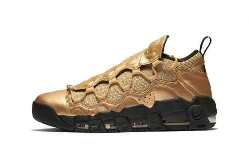 """Nike's Air More Money Gets Dipped in """"Metallic Gold"""""""