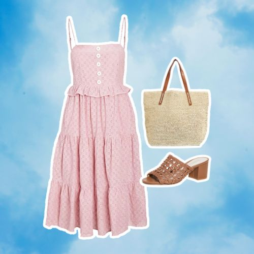 10 Picnic Outfit Ideas That Go Great With A Gingham Blanket & Wicker Basket