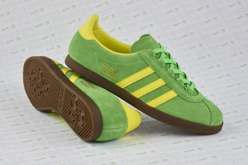"Size? & adidas Originals Resurrect the Trimm Master in ""Lime/Yellow"""