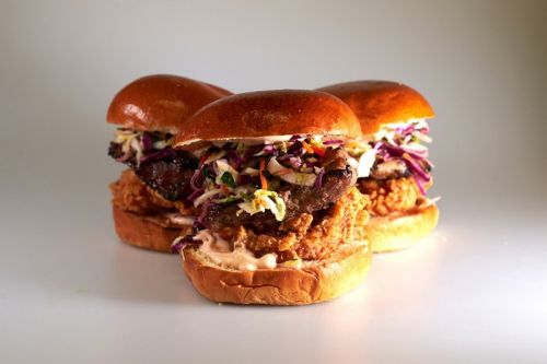 Sweet Chick & Num Pang Collaborate on Pork Belly-Topped Fried Chicken Sandwich