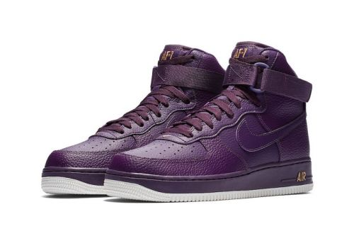Nike Air Force 1 High Gets Covered in Purple & Gold