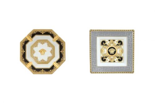 Versace Ashtrays Get Opulent Medusa Head Treatment